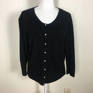 WhiteHouseBlackMarket Black Pearl Button Cardigan